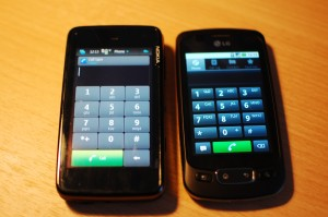 Nokia N900 and LG Optimus One Android 2.2